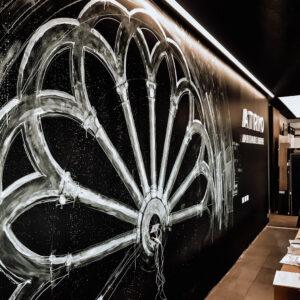 Murale in showroom