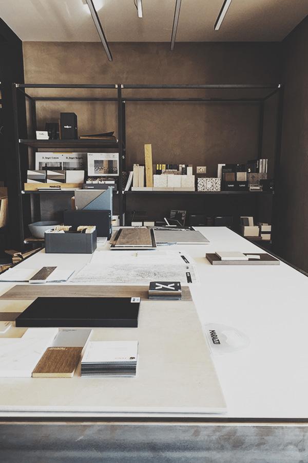 Design d'interni per showroom di architettura