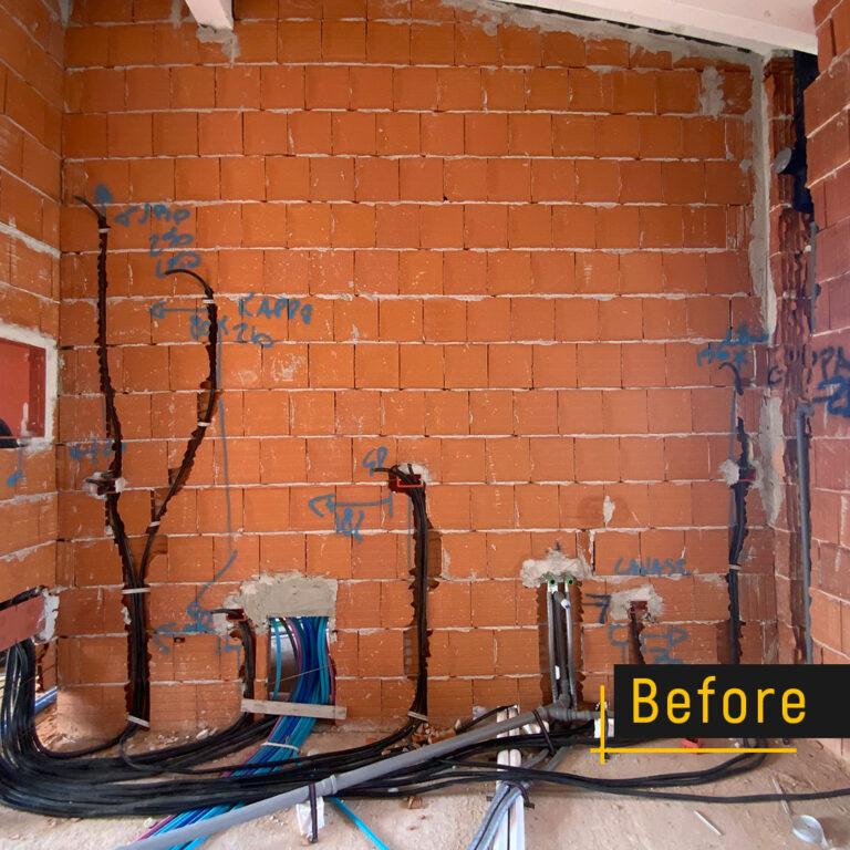 Before and After della costruzione di una cucina su misura